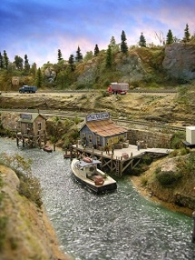 making a river model railroads